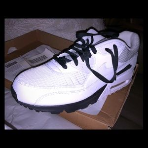 Nike Air Max 90 (white/anthracite, size 12.5)